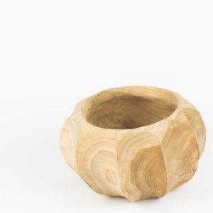 Bol redondo de madera de Teca