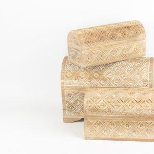 Cajita baúl de madera