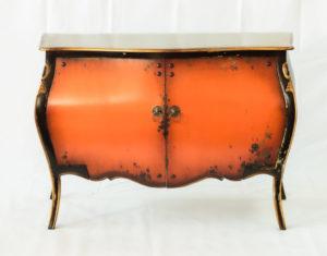 Aparador Vintage Bombay naranja oscuro de 2 puertas y 130cm