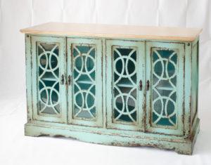 Buffet Vintage de 4 puertas con cristal de 160cm  | Rococo