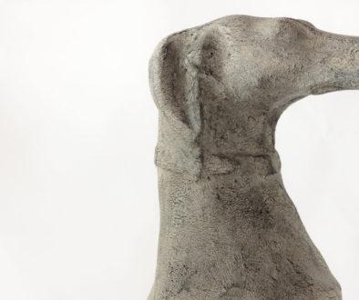 Galgo decorativo de cemento y resina
