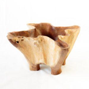 Mesa centro de teca tipo bowl estrela de 80cm | Rococo