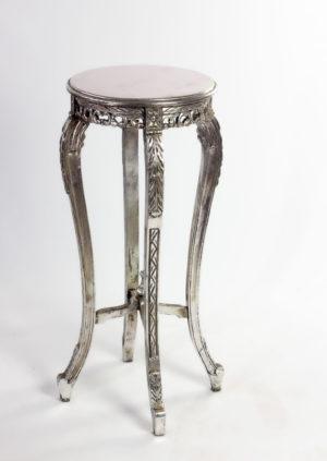 Mueble auxiliar de teca Cleo en plata envejecida