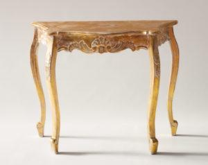 Consola Carving de madera en blanco con pan de oro