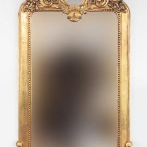 Precioso espejo decorativo acabado en pan de oro