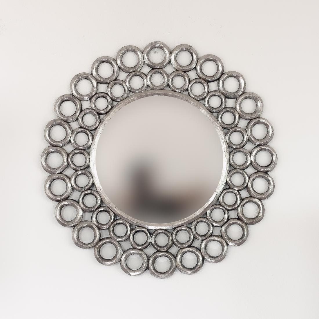 Espejo redondo de aros