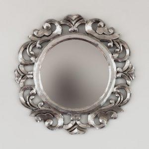 Espejo decorativo redondo pan de plata