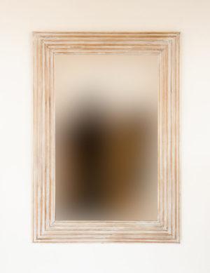 Espejo decorativo de madera Bulig de 70x100 en Blanco decapado
