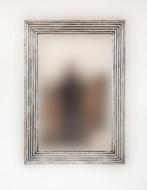Espejo decorativo de madera Bulig de 70x100 en Plata (envejecida)
