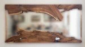 Espejo rústico de madera de teca