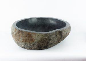 Lavabo natural de piedra de rio (imagen real)  55x55cm piezas únicas | mirococo.com