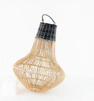 Pantalla de lámpara de ratán natural artesana Gada de 40x30cm