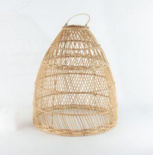 Pantalla de lámpara de ratán natural Kurungan parias de 45x35cm