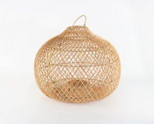 Pantalla de lámpara de ratán natural Abalak de 42x34cm
