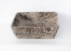 Lavabo de mármol gris cuadrado de 40x40x12cm