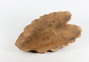 Bol de madera de Teca Hoja de 47cm