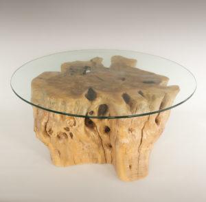 Mesa de Olivo de tronco natural de 36x73x70 | MiRococo.com
