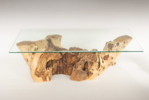 Mesa de Olivo de tronco natural de 37x40x120 | MiRococo.com