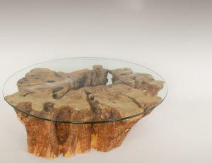 Mesa de Olivo de tronco natural de 28x64x85 | MiRococo.com