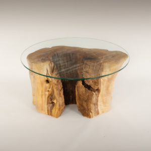 Mesa de Olivo de tronco natural de 35x36x68 | MiRococo.com