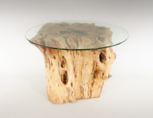 Mesa de Olivo de tronco natural de 59x75x82 | MiRococo.com