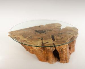Mesa de Olivo de tronco natural de 28x80x100 | MiRococo.com