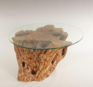 Mesa de Olivo de tronco natural de 55x40x60 | MiRococo.com