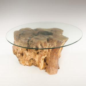 Mesa de Olivo de tronco natural de 42x50x70 | MiRococo.com