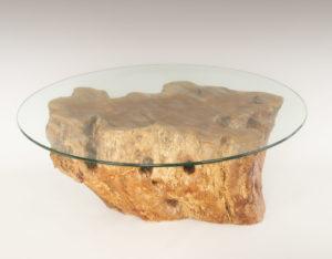 Mesa de Olivo de tronco natural de 40x52x75 | MiRococo.com