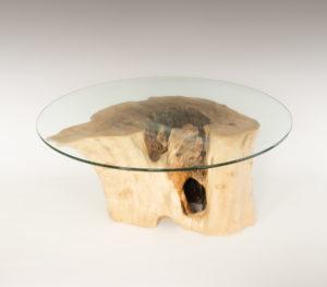Mesa de Olivo de tronco natural de 38x50x75 | MiRococo.com