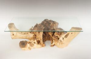 Mesa de Olivo de tronco natural de 39x60x126 | MiRococo.com