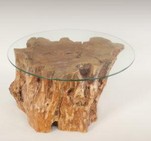 Mesa de Olivo de tronco natural de 37x60x64 | MiRococo.com