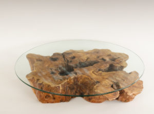 Mesa de Olivo de tronco natural de 17x65x90 | MiRococo.com