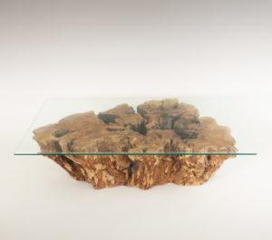 Mesa de Olivo de tronco natural de 25x60x94 | MiRococo.com