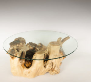 Mesa de Olivo de tronco natural de 36x55x76 | MiRococo.com