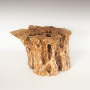 Mesa de Olivo de tronco natural de 45x60x76 | MiRococo.com