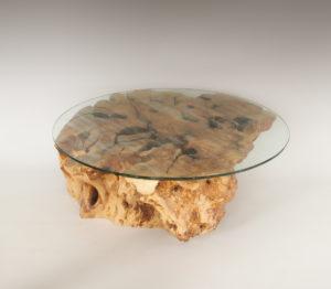 Mesa de Olivo de tronco natural de 36x90x90 | MiRococo.com