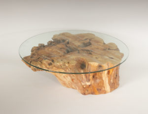Mesa de Olivo de tronco natural de 31x74x80 | MiRococo.com