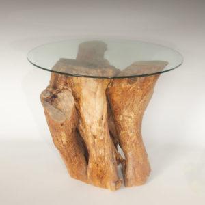 Mesa de Olivo de tronco natural de 77x62x66 | MiRococo.com
