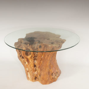 Mesa de Olivo de tronco natural de 57x67x67 | MiRococo.com