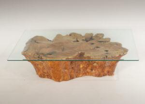 Mesa de Olivo de tronco natural de 28x60x90 | MiRococo.com