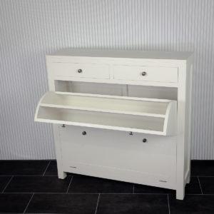 Zapatero estrecho colore blanco de madera