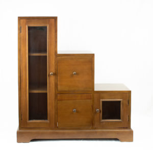 Mueble escalera de madera maciza