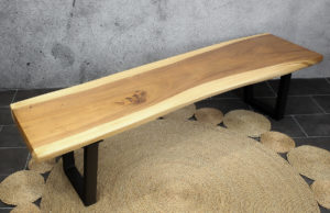 Banco rústico de madera maciza de suar