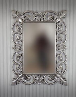 Espejo de pared decorativo Italiano Mirror Plata (envejecido) de 120cm.