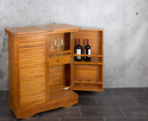 Mueble bar de madera de Teca