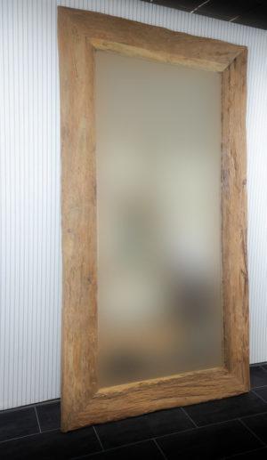 Espejo rústico de madera de teca recuperada