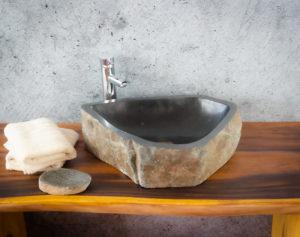Lavabo River Megalític (imagen real)  50x43cm piezas únicas | mirococo.com