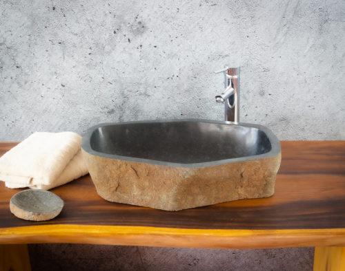 Lavabo River Megalític (imagen real)  56x33cm piezas únicas | mirococo.com