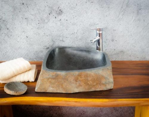 Lavabo River Megalític (imagen real)  45x45cm piezas únicas | mirococo.com